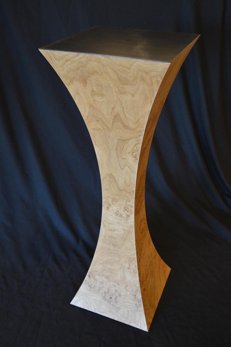 English Chestnut Burl Pedestal