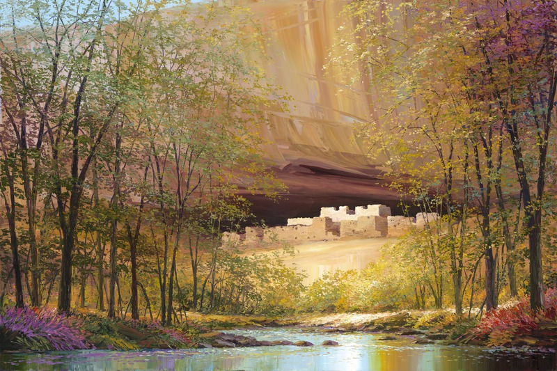 Cliff Dwelling Reflections