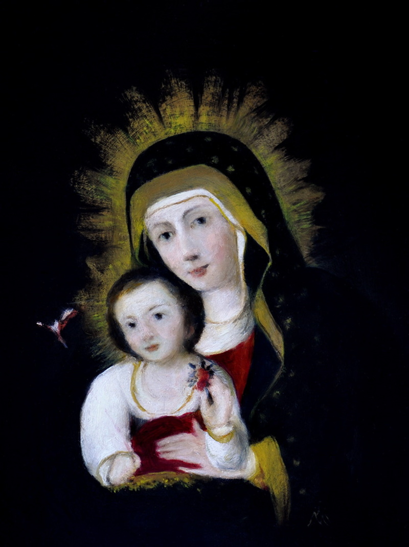 Chacon's Madonna and Child with Bird