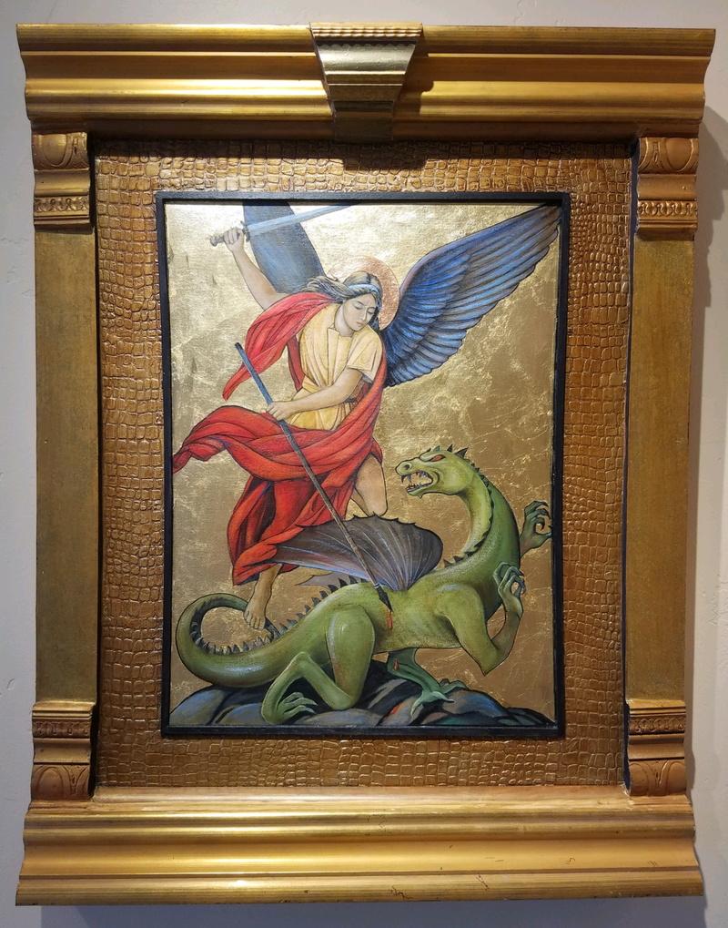 Vanquished-St. Michael Icon