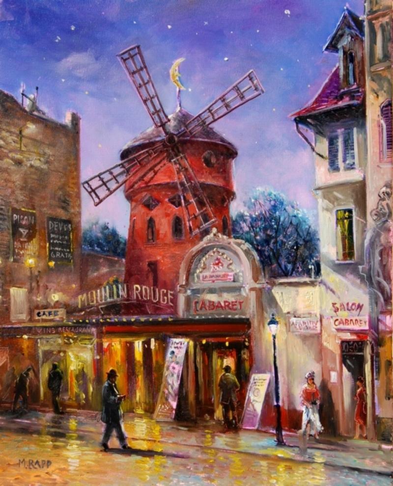 Evening at the Moulin Rouge, Paris