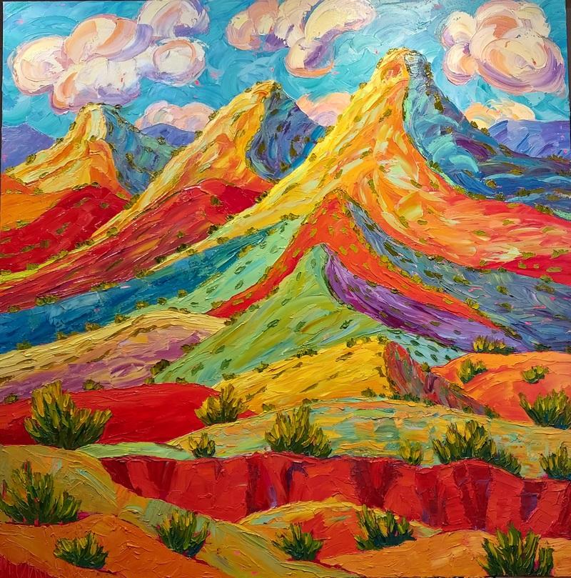 Polka Dot Hills of Abiquiu with Arroyo