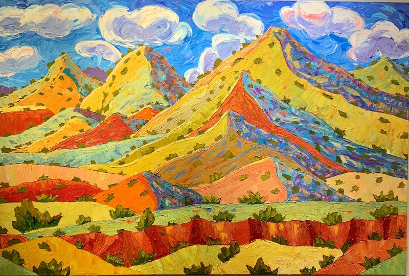 Polka Dot Hills of Abiquiu with Red Arroyo