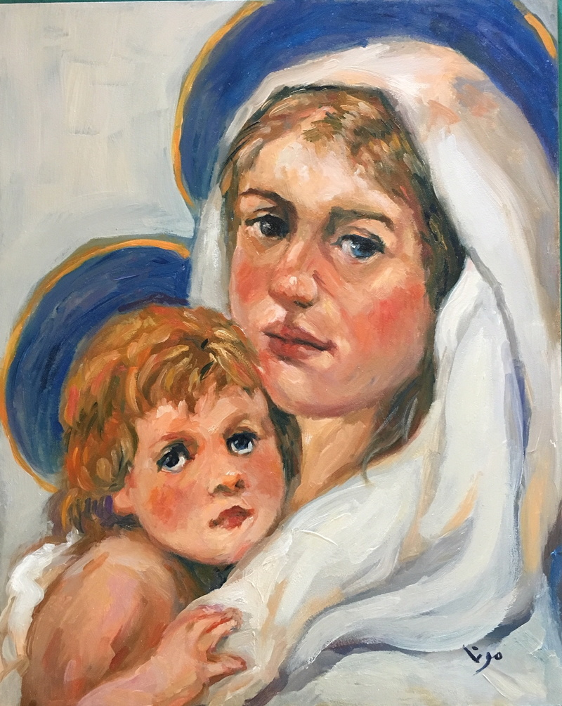 Madonna and Child in White