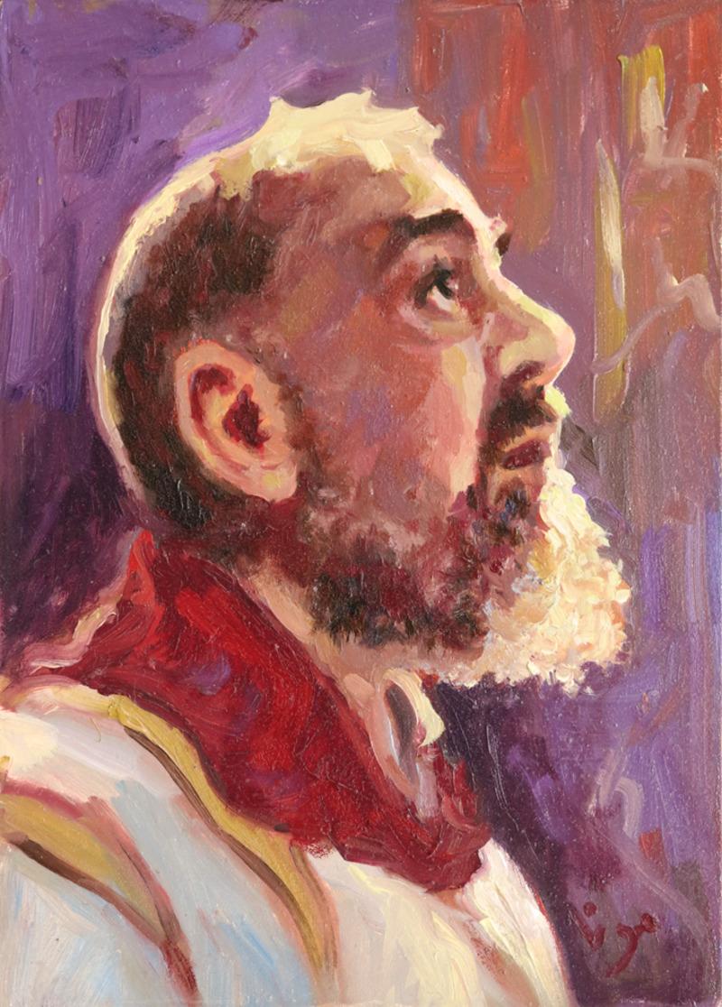 Padre Pio in Purple