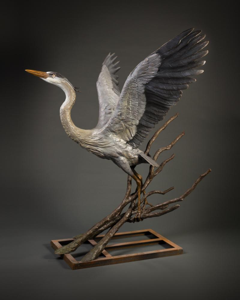 Great Blue Heron-Monumental