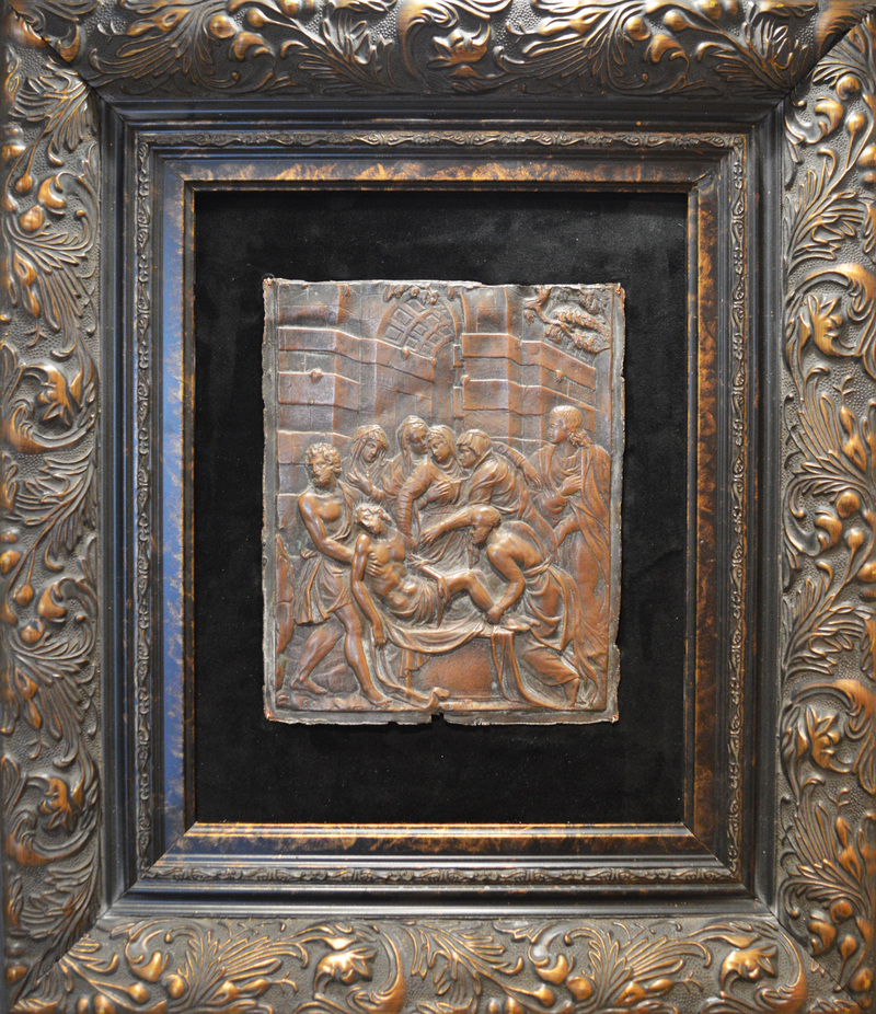 French Relief Piece Framed AT027