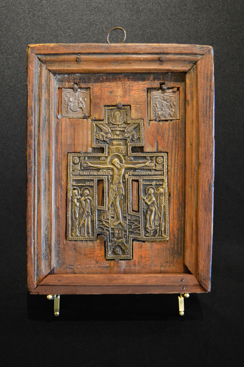Wooden Icon with Cross AT05
